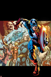 Captain America: Man out of Time No.1 Cover: Captain America, Thor, Wasp, and Iron Man Running Prints by Bryan Hitch