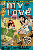 Marvel Comics Retro: My Love Comic Book Cover No.16, Tennis, Pathos and Passion (aged) Print
