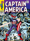 Marvel Comics Retro: Captain America Comic Book Cover No.107, with Red Skull and Bucky Prints