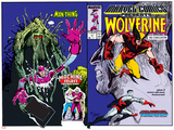 Marvel Comics Presents No.10 Cover: Wolverine, Colossus, and Spider-Man Jumping Posters by John Buscema