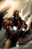 Invincible Iron Man No.33 Cover: Iron Man Standing Foto von Salvador Larroca