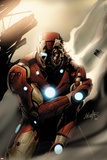 Invincible Iron Man No.33 Cover: Iron Man Standing Posters av Salvador Larroca