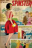 Marvel Comics Retro: Love Comic Panel, Spinster (aged) Prints