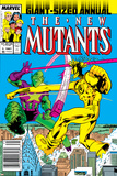 New Mutants Annual No.3 Cover: Impossible Man and Warlock Print by Alan Davis