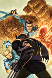 Dark Wolverine No.76 Cover: Invisible Woman, Thing, Mr. Fantastic and Human Torch Fighting Posters by Mico Suayan
