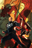 Secret Avengers No.6 Cover: Steve Rogers and Black Widow Posing Posters by Marko Djurdjevic