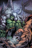 Incredible Hulks No.631 Cover: Hulk and Wendigo Fighting Prints by Paul Pelletier