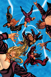 X-Factor No.49 Cover: Madrox, Rictor, Stong Guy, Siryn, M, Miller and Layla Posters by David Yardin