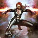 Secret Avengers No.15 Cover: Black Widow Crouching and Shooting Print by Adi Granov