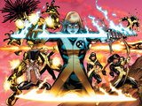 New Mutants No.1 Cover: Magik, Moonstar, Karma, Magma, Sunspot, Warlock and Legion Photo by Adam Kubert