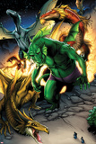 Avengers vs. Pet Avengers No.1: Fin Fang Foom Standing Posters by Ig Guara