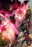 Avengers: The Childrens Crusade No.5: Scarlet Witch, Wiccan, Patriot, Ant-Man, Stature, and Others Poster by Jim Cheung