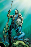 Fantastic Four No.585 Cover: Namor and Invisible Woman Posing Póster por Alan Davis