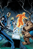 Fantastic Four No.583 Cover: Mr. Fantastic, Invisible Woman, Thing, and Human Torch Standing Prints by Alan Davis