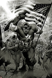 Captain America: Man out of Time No.1: Captain America Charging Posters by Jorge Molina