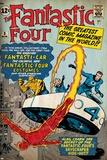Marvel Comics Retro: Fantastic Four Family Comic Book Cover No.3, Flying (aged) Prints