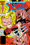Uncanny X-Men No.213 Cover: Sabretooth and Wolverine Posters by Alan Davis