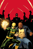 Daredevil No.509 Cover:  Iron Fist, Luke Cage, and Daredevil Posing Poster by John Cassaday