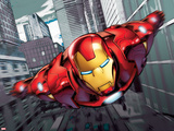 Iron Man Flying Poster