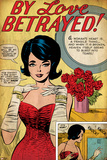 Marvel Comics Retro: By Love Betrayed Comic Panel, Evening Gown and Gloves, with Roses (aged) Posters