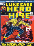 Marvel Comics Retro: Luke Cage, Hero for Hire Comic Book Cover No.1, Origin Poster