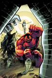 Hulk No.40 Cover: Red Hulk Screaming Posters by Gabriel Hardman