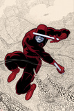 Daredevil No.1 Cover: Daredevl Jumping amidst Sounds Posters by Paolo Rivera
