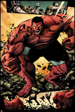 Hulk No.42: Panels with Red Hulk  Smashing and Screaming Prints by Patrick Zircher