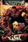 Hulk No.42: Panels with Red Hulk  Smashing and Screaming Prints by Patrick Zircher