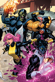 Secret Invasion: X-Men No.2 Cover: Pixie, Nightcrawler and Cyclops Print by Terry Dodson