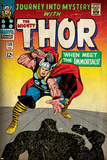 Marvel Comics Retro: The Mighty Thor Comic Book Cover No.125, Journey into Mystery (aged) Print