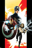 Ultimates No.1 Cover: Captain America, Thor, and Iron Man Posters par Kaare Andrews