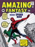 Cómics retro Marvel: cómic Amazing Fantasy, portada nro.15, presentando a Spider Man Poster