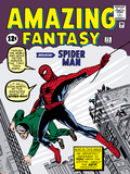 Marvel Comics Retro: Amazing Fantasy Comic Book Cover No.15, Introducing Spider Man Print