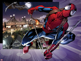 Ultimate Spider-Man No.157: Spider-Man Swinging Print by Mark Bagley