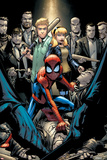 Marvel Adventures Spider-Man No.12 Cover: Spider-Man Crouching Poster by Patrick Scherberger