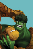 Marvel Adventures Super Heroes No.11 Cover: Thing and Hulk Fighting Posters by Ricardo Tercio