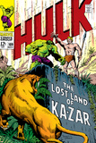 Marvel Comics Retro: The Incredible Hulk Comic Book Cover No.109, the Lost Land of Ka-Zar Print
