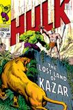 Marvel Comics Retro: The Incredible Hulk Comic Book Cover No.109, the Lost Land of Ka-Zar Print