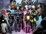 Invincible Iron Man No.513: Vibro, Firebrand, Blizzard, Crimson Dynamo, Living Laser and Others Prints by Salvador Larroca