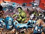 Incredible Hulks No.614: A-Bomb, Hulk, Red She-Hulk, Valkyrie, Steve Rogers, She-Hulk, and Nova Print by Barry Kitson