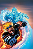 X-Men No.201 Cover: Iceman and Cannonball Posters par Humberto Ramos