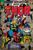 Marvel Comics Retro: The Mighty Thor Comic Book Cover No.123, Mystery with Absorbing Man, Odin Print