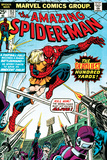 Marvel Comics Retro: The Amazing Spider-Man Comic Book Cover No.153, The Deadliest Hundred Yards Poster