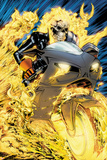 Ghost Rider No.1: Ghost Rider Flaming and Riding a Motorcycle Prints by Matthew Clark