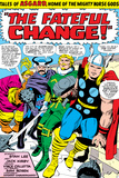 Marvel Comics Retro: Mighty Thor Comic Panel, Tales of Asgard, the Fateful Change! Print