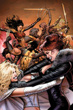 Uncanny X-Men No.510 Cover: Pryor, Madelyne, Emma Frost, Wolverine and Lady Deathstrike Prints by Greg Land