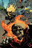 Ultimate Avengers 2 No.6: Ghost Rider Flaming Print by Leinil Francis Yu