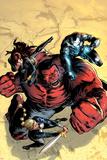 Hulk No.43 Cover: Red Hulk, Valkyrie, Black Widow, and War Machine Fighting Print by Patrick Zircher