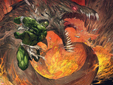 Incredible Hulk No.1: Hulk Fighting a Fiery Dragon Posters by Marc Silvestri